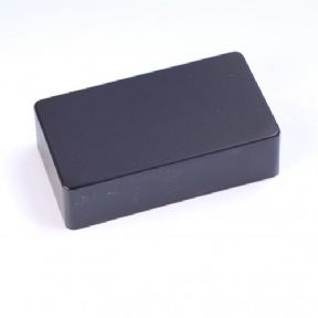 HUMBUCKER PICKUP COVER BLACK PLASTIC